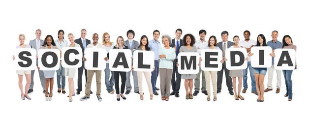 Social Media Business People Team Teamwork Success Strategy