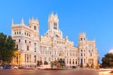 Plaza de Cibeles with the Palacio de Comunicaciones, Madrid