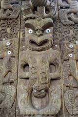 Maori Wooden Carving, NZ