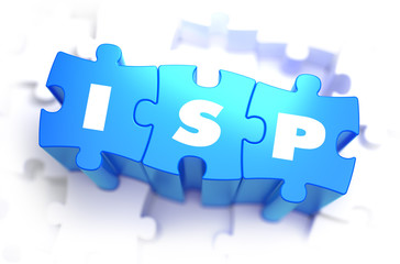 ISP - Text on Blue Puzzles.