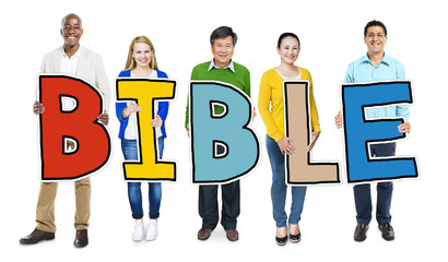 Multiethnic Group of People Holding Bible Concept