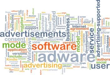 adware wordcloud concept illustration