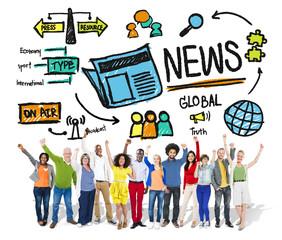 News Journalism Publication Update Media Advertisement Concept
