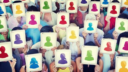 Diversity People Digital Tablet Communication Technology Concept