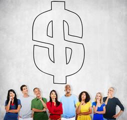 Dollar Sign Financial Accounting Banking Concept