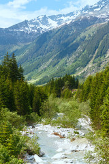 Grimsel Pass summer landscape (Switzerland).