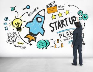 Start Up Business Launch Success Businessman Ideas Concept