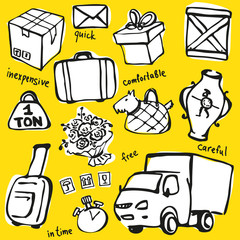 Delivery Service Vector Set