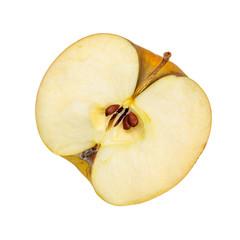 Half of fresh organic apple