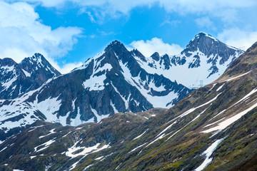 Passo del San Gottardo summer landscape.(Switzerland).
