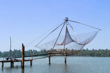 Chinese fishing nets in the Indian city Cochin