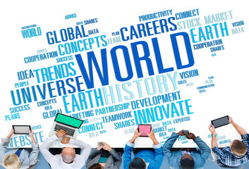 World Globalization International Life Concept