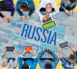 Russia Global World International Globalization Concept