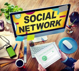 Social Network Internet Online Society Social Network Concept
