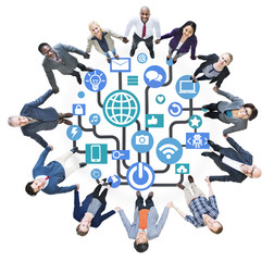 Global Communications Social Networking Togetherness Community