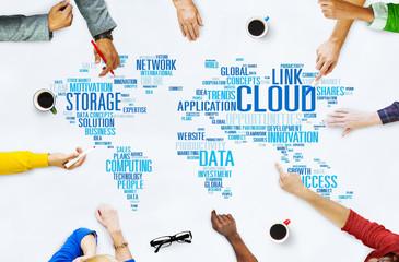 Link Cloud Computing Technology Data Information Concept