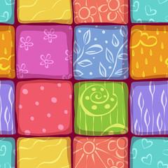 Mosaic seamless pattern background