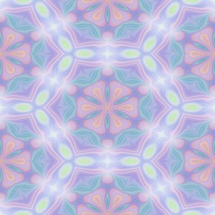 Seamless kaleidoscope texture or pattern in pastel colors 1