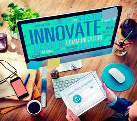 Innovate Ideas Inspiration Invention Creativity Concept