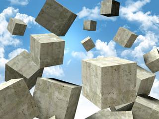falling cubes © tiero