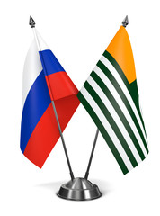 Russia and Azad Kashmir - Miniature Flags.