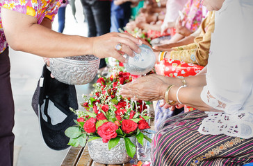 songkran ceremony in Thailand
