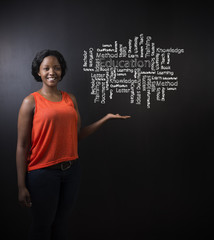 African American woman teacher education diagram