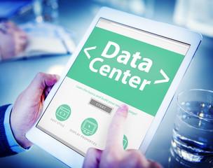 The Cloud Data Center Technology Online Internet Concept