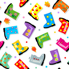 Seamless gumboots pattern