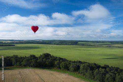 Deurstickers Ballon Полет на воздушном шаре