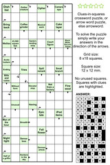 Arrowword (clues-in-squares) crossword puzzle
