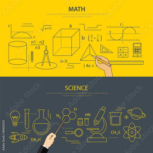 Zdjęcia na płótnie, fototapety, obrazy : math and science education concept