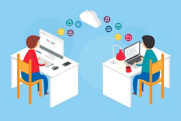 Team collaboration, website development process