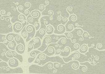 albero con rami curvi tono su tono