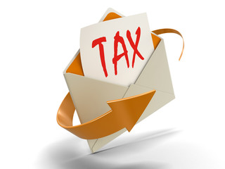 Letter TAX (clipping path included)