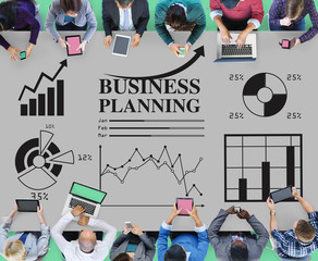 Business Planning Statistics Diagram Financial Concept