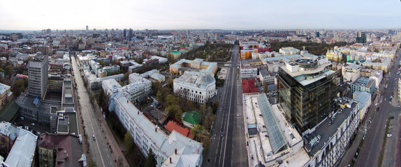 aerial view of the historic center of Kiev, Ukraine