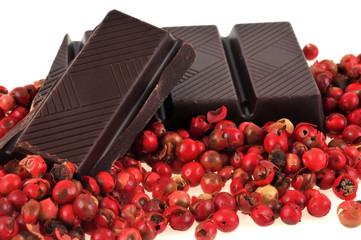 Chocolat et baies rouges
