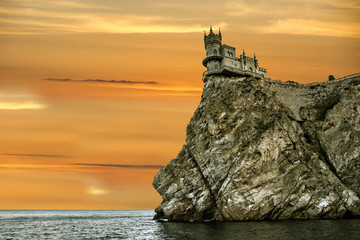Medieval knight's castle Swallow's nest, Yalta, Crimea, Russia