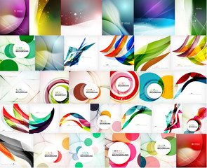 Mega set of wave abstract backgrounds