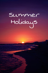 beachtime summer holidays