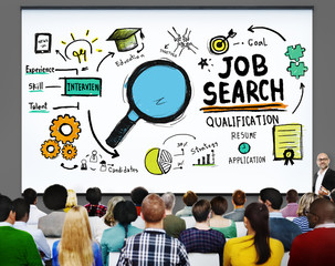 Job Search Qualification Recruitment Hiring Application Concept