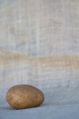 One potato on jute