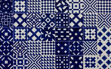 Ceramic tile in Lisbon street, Portugal.