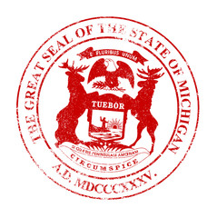 Michigan Seal Rubber Stamp