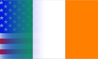 Irish Flag Stars and Stripes