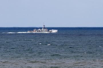 Small war navy ship