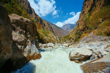 Mountain river in Nepal.