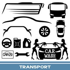 Vector set. Transportation icons.