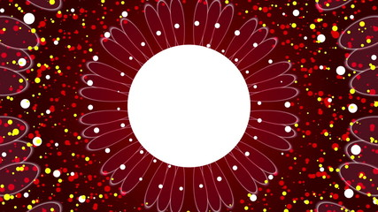abstract loop motion red background, flower